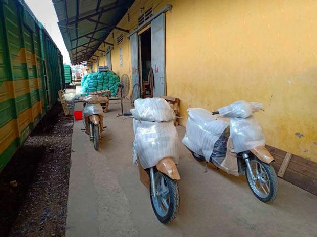 Hướng dẫn gửi xe máy bằng tàu hỏa