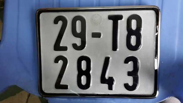 Ví dụ trên biển số xe máy Hà Nội