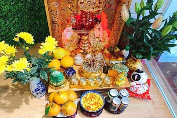 Các vật phẩm cần phải có trên bàn thờ Thổ Địa - Thần Tài