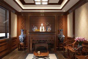 Cách đặt bàn thờ trong phòng riêng nằm bên trong phòng khách